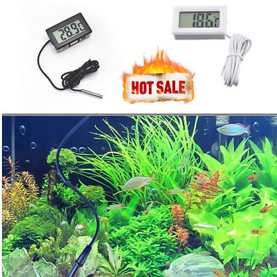 Lcd Digital Fish Aquarium Water Tank Thermometer Temperature -50°C To +110°C