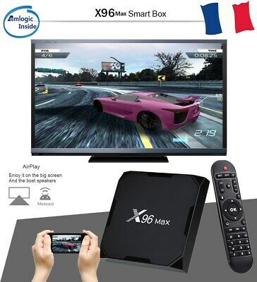 X96 MAX Smart TV BOX 2+16Go Android 8.1 Amlogic S905X2 Wifi 4K×2K 3D Multimedia