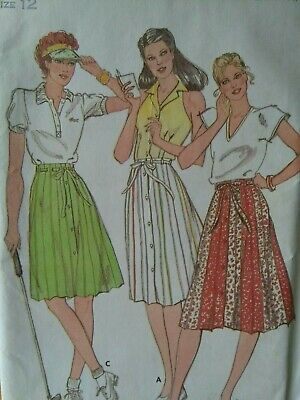 6626 UNCUT Butterick SEWING Pattern Misses Straight A Line Skirt Casual Denim