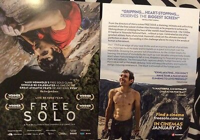 Movie Flyer - Free Solo Live Beyond Fear  *NOT A DVD*