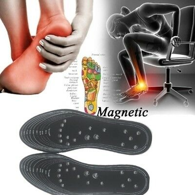 1Pair Foot Care Gel Acupressure Slimming Insole Pad Massage Magnetic Insole A6P3