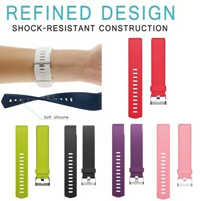 Silicone Band Fitness For Fitbit Charge 2 Replacement Sport Wrist Band Strap S L