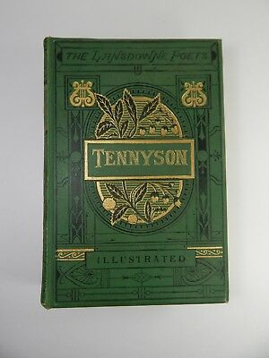 The Landsdowne Poets TENNYSON. Victorian Antique Book. circa 1878. RARE