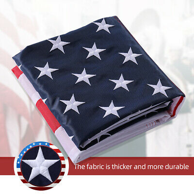 3'x 5' Ft American Flag US Flag 420D Polyester Embroidered Stars Brass Grommets