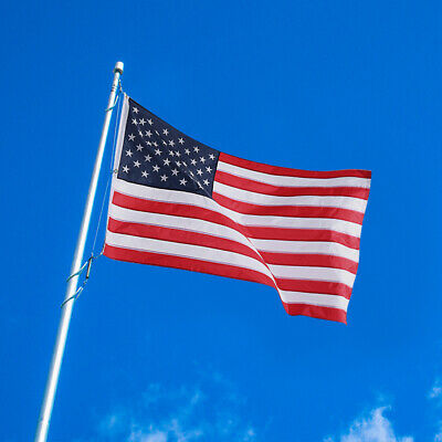 US SELLER 8x12 Ft US Flag 420D Embroidered Stars Brass Grommets American Flag