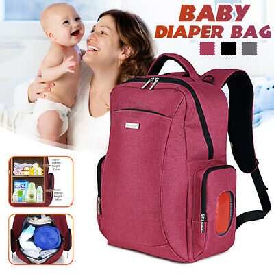 Multifunctional Large Baby Diaper Bag Mummy Travel Backpack Nappy Handbag Tote