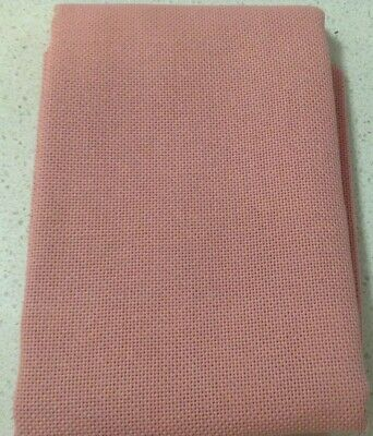 20 ct Zweigart Bellana Fabric Fat Quarter 50x70 Cm Dusty Rose $15.00 Post Free