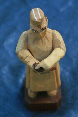 "Arni Hand Carved Surgeon Wood Figurine 7"" tall"