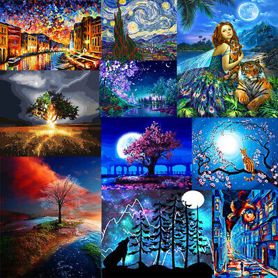 DIY Paint By Number Kit Digital Oil Painting Art Wall Home Decor Night Scenery