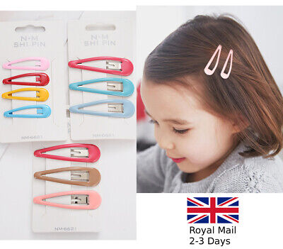 5cm or 7cm Quality Bendies Sleepies Hair Snap Clip Slides Girls Candy Colours