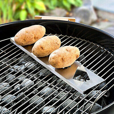 15.5in Stainless Steel BBQ Grilling Tool Barbecue Accessorice Potato Grill Rack