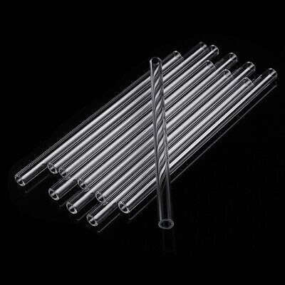 10Pcs Thick Wall Borosilicate Glass Blowing Tube 150mm x 7mm x 1.5mm