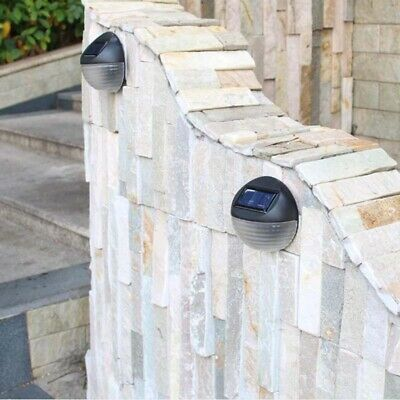 Solar Power Wall Mount Light For Garden Fence Walkways Stairways Path Pathway