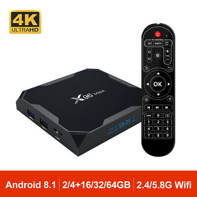 X96 Max TV Box Android 9.0 Wifi 2.4G/5G S905X2 Quad Core 4K TV Caja BT4.0 X96MAX