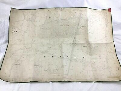 1910 Antique Map of West Sussex Keymer Hassocks Clayton Sergison Estate County
