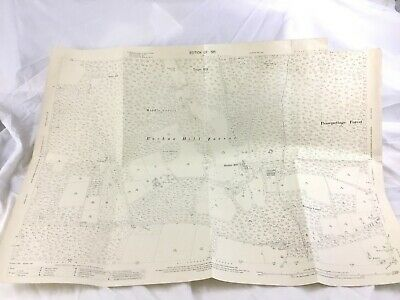 1911 Antique Map of Sussex Pease Pottage Forrest Buchan Hill Village Lewes