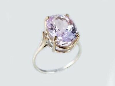 19thC Antique 10ct Afghani Kunzite Gold Ring Ancient Good Luck Symbol of Purity