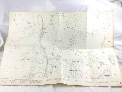 1910 Antique Map of Sussex Mayfield Village Little Furnace Wood River Rother