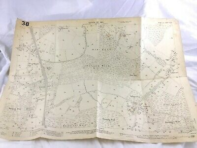 1910 Antique Map of Sussex Town Littleworth Village Cooksbridge Lewes