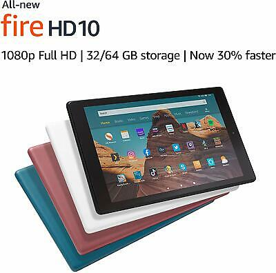 "New Amazon Fire HD 10"" Tablet with Alexa Hand Free, 32GB, Full HD, 2019 Model !!"