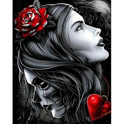 Full Drill 5D Diamond Painting Beauty And Skull Embroidery Cross Stitch Kit S1K3