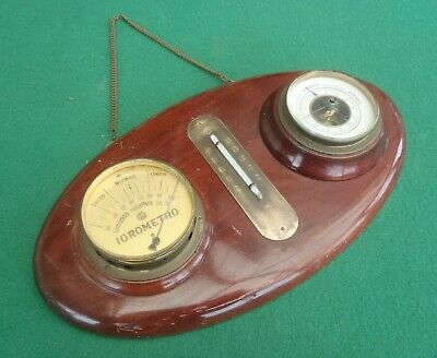 VINTAGE ITALIAN BAROMETER, HYGROMETER, THERMOMETER date unknown