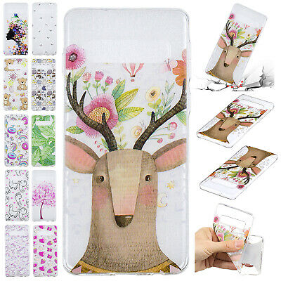 For Samsung Galaxy S9 Plus Case S8+ Pattern Shockproof Soft Slim Silicone Cover