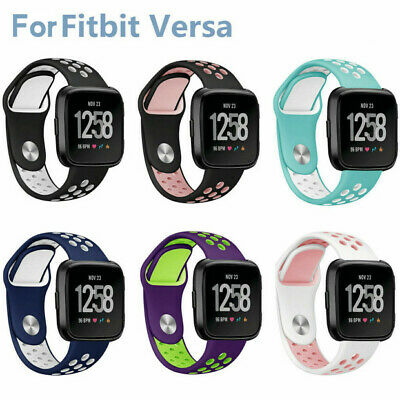 Soft Silicone Sport Strap Small Large Breathable Band For Fitbit Versa Watch US