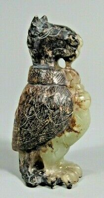 Very Fine China Chinese Jade Carved Figure of a Bird w/ Incised decoration #2