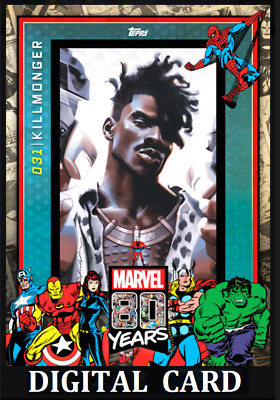 Topps Marvel Collect Card Trader 80 Years Celebration Wave 4 Killmonger