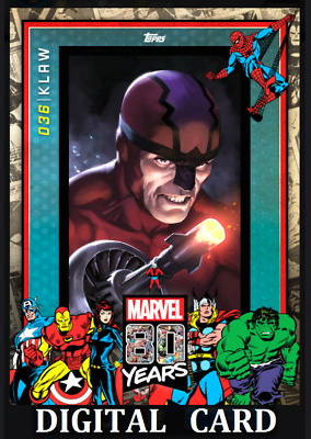 Topps Marvel Collect Card Trader 80 Years Celebration Wave 4 Klaw 036