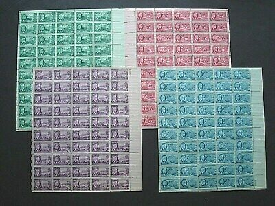 #930 - #933 .01c to .05c1945 Franklin Roosevelt Issue Mint Sheets U.S. NH Stamps