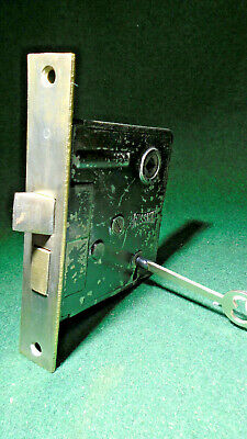 "RUSSWIN #0367 MORTISE LOCK w/ KEY - 5 1/4"" faceplate: RECONDITIONED! (12426)"