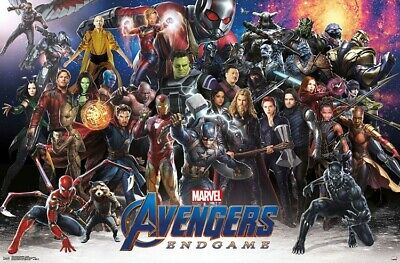 AVENGERS ENDGAME - CHARACTER COLLAGE POSTER - 22x34 - MARVEL MOVIE 17854