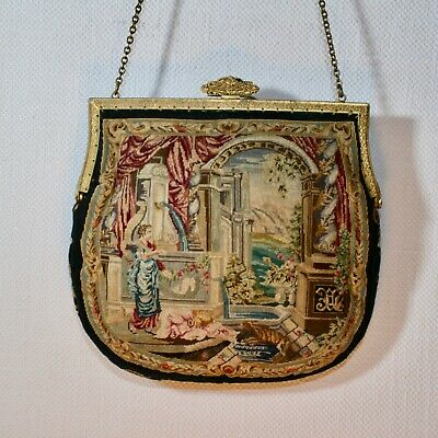 Antik Handtasche ART NOUVEAU EVENING BAG VIENNA Jugendstil Petit Point Sac