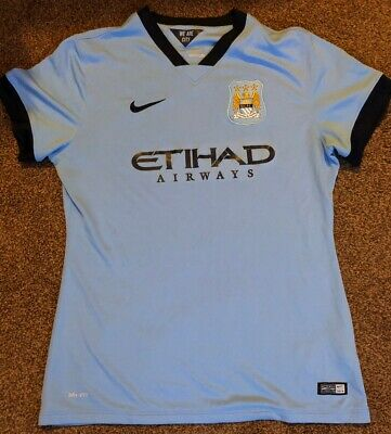 Manchester City Womens Large Home Shirt Nike 2014/2015 Size L Large