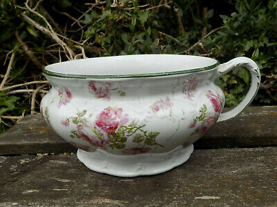 Antique Floral Hand Painted Chamber Pot by J & G Meakin Hanley England, c1912
