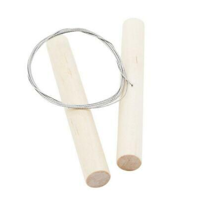 CHEESE WIRE CUTTER WITH WOODEN HANDLES - 67cms LONG - ALSO USEFUL FOR CLAY