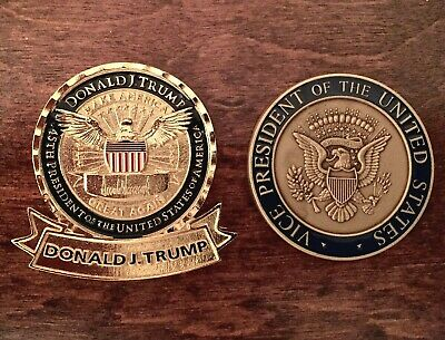 Official President Donald J. Trump & VP Mike Pence Challenge Coin - MAGA