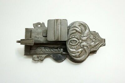 ANTIQUE 17TH CENTURY ORNATE GERMAN STEEL DOOR LOCK GOTHIC MEDIEVAL DESIGN!!  n1