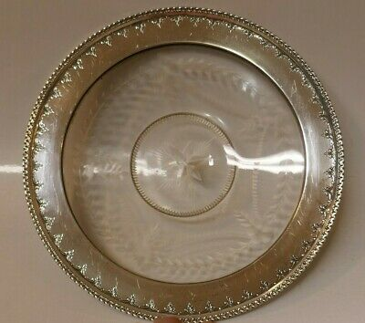 Antique R. Wallace & Sons Crystal & Sterling Underplate - model Number 8827-9