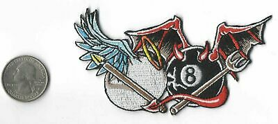 """Lethal Threat Patch Iron on//Sew on 3 1//4"""" x 3 1//4"""" Red Devil Girl Piston"""