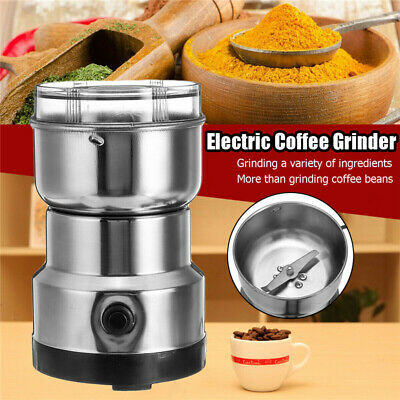 220V Electric Coffee Bean Grinder Stainless Steel Nut Spice Grinding Blender