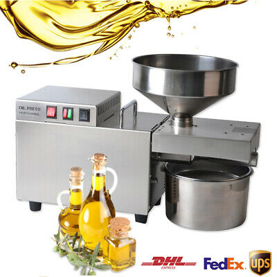 Automatic Oil Press Machine Stainless Steel Commercial Expeller 7.5-12.5KG/H