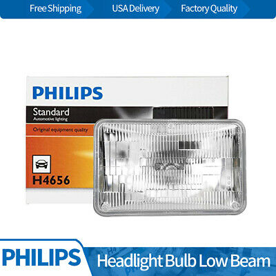 Philips 1pc Headlight Lamp Light Bulbs Low Beam Fits 1984 Audi 4000 Quattro BY08