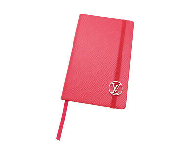 Auth Louis Vuitton Epi Gustave PM Notebook Red Epi Leather - e41680