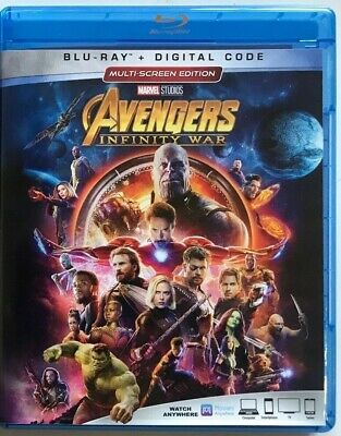Marvel Avengers Infinity War Blu Ray Free World Wide Shipping Buy It Now Thanos