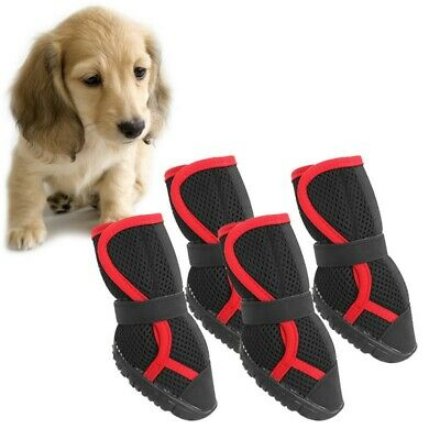 Pet Dog Summer Anti-Slip Shoe Puppy Protective Breathable Boots Paw Protector AU
