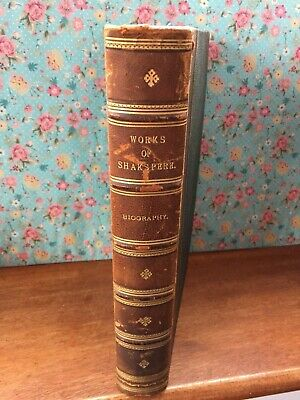 Antique leather book, William Shakespeare Shakspere [SIC] by Charles Knight 1843