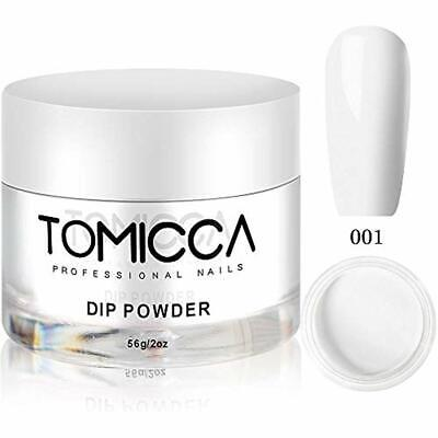 Tomicca Acrylic Powders & Liquids Dipping Powder, French White Colors 2 Oz, 56g,